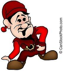 Red Dwarf - colored cartoon illustration