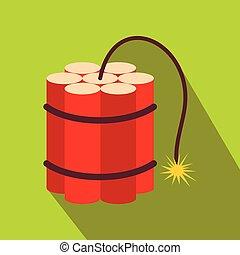 Red dynamite sticks flat icon