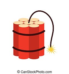 Red dynamite sticks icon