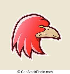Red Eagle Head Cartoon Icon Vector Illustration