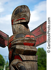 Red Eagle Totem Pole Duncan, BC, Canada