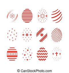 Easter egg icon set