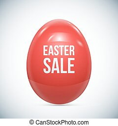 Red Easter Egg Isolated Vector
