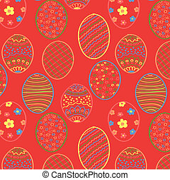 Red Easter Seamless