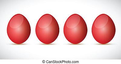 red egg set illustration design