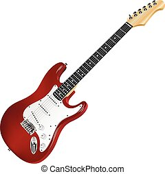 Red electric guitar, classic.
