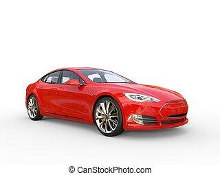 Red electric sports car - studio shot