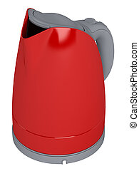 Red electric teapot