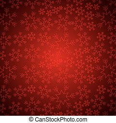 red elegant christmas background with snowflakes abstract