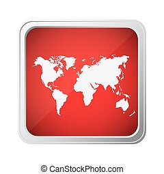 red emblem earth planet map icon
