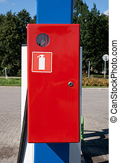 red emergency box