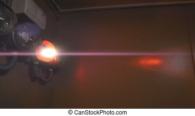 Red emergency lights with anamorphic flares