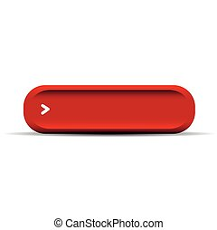 Red empty button vector