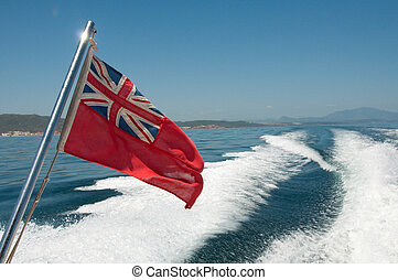 The red ensign - civilian flag for british registered ships