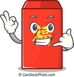 red envelope call me cartoon in the mascot