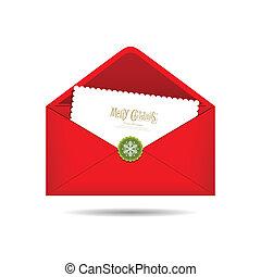 Red Envelope letter Merry Christmas