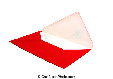 red envelope in isolated background