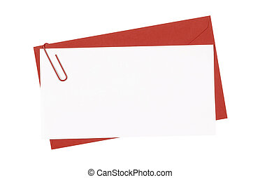 Red envelope with balnk letter
