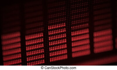 Red equalizer vibrates and pulsates on the screen