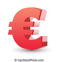red euro symbol