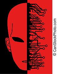 Red evil  - Creative design of red evil