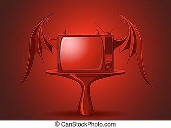 Red Evil retro TV