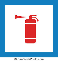 red extinguisher sign - red extinguisher vector sign