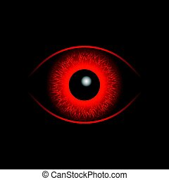 Red Eye Ball. Horus eye insane bloodseeker.