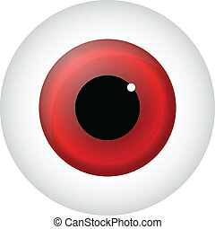 Red Eye Isolated On White