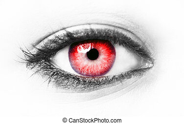 Red eye isolated