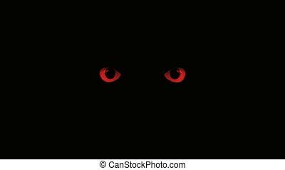 red eyes blink