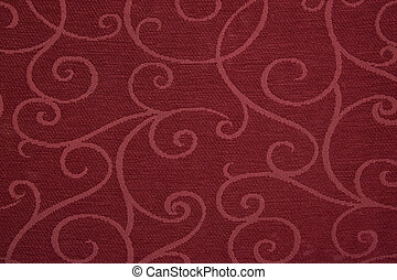 Red fabric background picture. Horizontal shot.