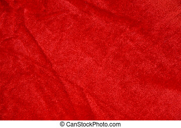 Red fabric texture for background.