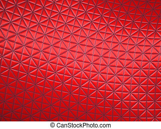 Red fabric with triangle stitched pattern
