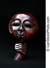 Red Face Mask - An image of a red face mask with a black...