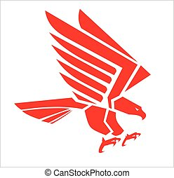 red falcon - Suitable for team Mascot , team icon, corporate...