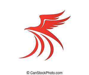 Falcon Logo Template - Red Falcon Logo Template vector