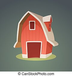Red Farm Barn Icon