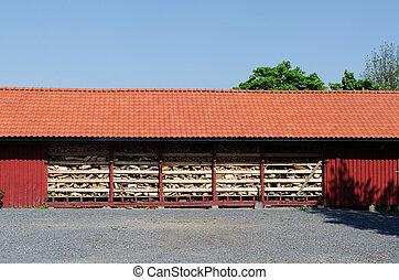 Red farmhouse
