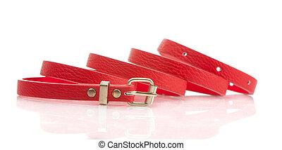 Red fashion belt