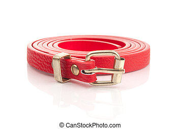 Red fashion belt