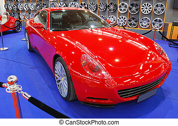 red fast car