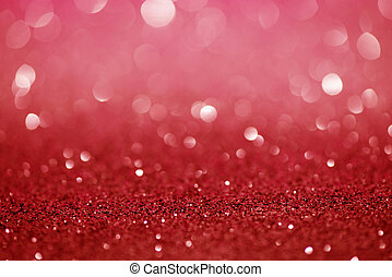 Red Festive Christmas abstract bokeh background, shining ...