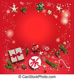 Red festive square