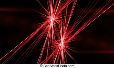 Red Fibers in Motion, Rays of Fiery