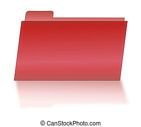 Red File Folder with Shadow