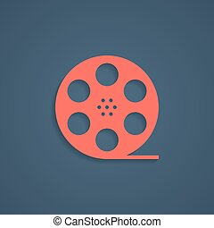 red film reel icon with shadow