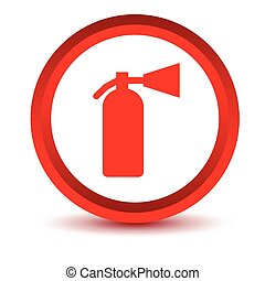 Red fire extinguisher icon
