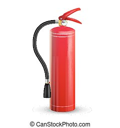 Red Fire Extinguisher Vector. Isolated Illustration