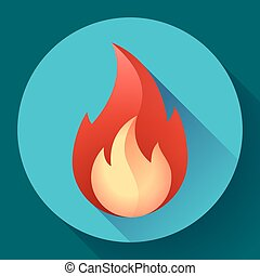 Red fire flame icon vector illustration